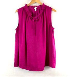 📦merona basic sleeveless XXL fucsia top